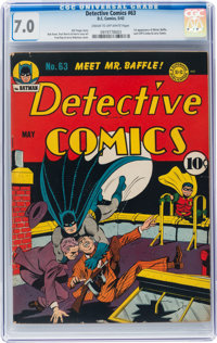 Detective Comics #63 (DC, 1942) CGC FN/VF 7.0 Cream to off-white pages