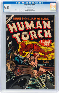 The Human Torch #37 (Atlas, 1954) CGC FN 6.0 Off-white to white pages