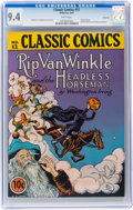Golden Age (1938-1955):Classics Illustrated, Classic Comics #12 Rip Van Winkle and the Headless Horseman -Original Edition - Vancouver pedigree (Gilberton, 1943) CGC NM 9...