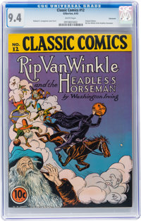 Classic Comics #12 Rip Van Winkle and the Headless Horseman - Original Edition - Vancouver pedigree (Gilberton, 1943) CG...