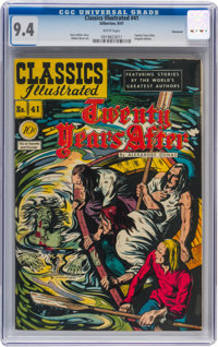 Classics Illustrated #41 Twenty Years After - Original Edition - Vancouver pedigree (Gilberton, 1947) CGC NM 9.4 White p...