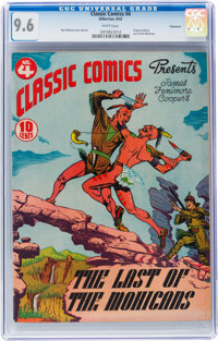 Classic Comics #4 The Last of the Mohicans - Original Edition - Vancouver pedigree (Gilberton, 1942) CGC NM+ 9.6 White p...