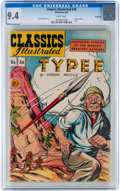 Golden Age (1938-1955):Adventure, Classics Illustrated #36 Typee - Original Edition - Vancouver pedigree (Gilberton, 1947) CGC NM 9.4 White pages....