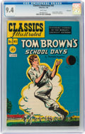 Golden Age (1938-1955):Classics Illustrated, Classics Illustrated #45 Tom Brown's School Days - Original Edition - Vancouver pedigree (Gilberton, 1948) CGC NM 9.4 White pa...