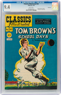 Classics Illustrated #45 Tom Brown's School Days - Original Edition - Vancouver pedigree (Gilberton, 1948) CGC NM 9.4 Wh...