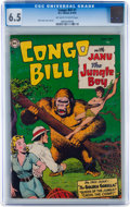 Golden Age (1938-1955):Adventure, Congo Bill #1 (DC, 1954) CGC FN+ 6.5 Off-white to white pages....