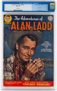 Adventures of Alan Ladd #1 (DC, 1949) CGC VF- 7.5 White pages