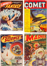 Assorted Science Fiction Pulps First Issues Group (Various, 1938-51) Condition: Average VG+.... (Total: 6 Items)