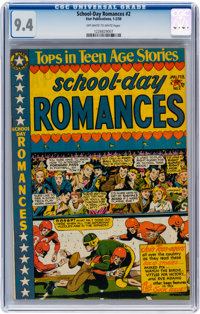 School Day Romances #2 (Star Publications, 1950) CGC NM 9.4 Off-white to white pages