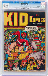 Kid Komics #1 Kansas City pedigree (Timely, 1943) CGC NM- 9.2 Cream to off-white pages