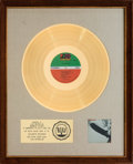 Music Memorabilia:Awards, Led Zeppelin RIAA Gold Record Award (Atlantic SD 8216,1969)....
