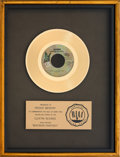 "Music Memorabilia:Awards, Queen ""Bohemian Rhapsody"" RIAA Gold Record Award(Elektra E-45297, 1975). ..."