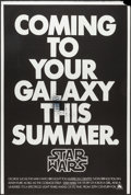"Star Wars (20th Century Fox, 1977). Trimmed One Sheet (27"" X 40"") Mylar Advance. Science Fiction"