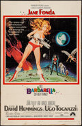 "Movie Posters:Science Fiction, Barbarella (Paramount, 1968). Trimmed One Sheet (26"" X 40.5"").Science Fiction.. ..."