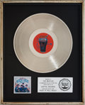 Music Memorabilia:Awards, Beatles Rock 'N' Roll Music RIAA Platinum Record Award(Capitol SKBO-11537, 1976). ...