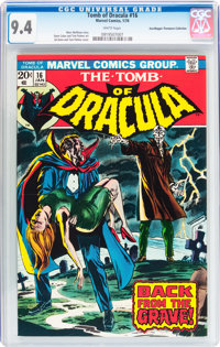 Tomb of Dracula #16 Don/Maggie Thompson Collection pedigree (Marvel, 1974) CGC NM 9.4 White pages