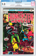 Bronze Age (1970-1979):Horror, Frankenstein #6 Don/Maggie Thompson Collection pedigree (Marvel,1973) CGC NM/MT 9.8 White pages....