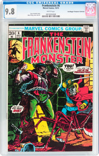 Frankenstein #6 Don/Maggie Thompson Collection pedigree (Marvel, 1973) CGC NM/MT 9.8 White pages