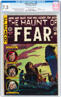 Golden Age (1938-1955):Horror, Haunt of Fear #28 (EC, 1954) CGC VF- 7.5 Off-white to whitepages....