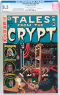 Golden Age (1938-1955):Horror, Tales From the Crypt #27 (EC, 1951) CGC VF+ 8.5 Off-white to whitepages....