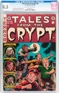 Golden Age (1938-1955):Horror, Tales From the Crypt #39 (EC, 1953) CGC VF+ 8.5 Off-white to whitepages....