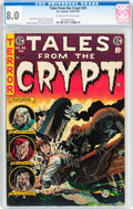 Golden Age (1938-1955):Horror, Tales From the Crypt #45 (EC, 1954) CGC VF 8.0 Off-white to whitepages....