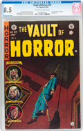Golden Age (1938-1955):Horror, Vault of Horror #37 (EC, 1954) CGC VF+ 8.5 Off-white to whitepages....