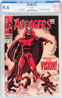 The Avengers #57 (Marvel, 1968) CGC NM 9.4 White pages