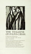 Miscellaneous:Broadside, Broadside Advertising the Shakespeare's Tragedie of JuliusCaesar Printed by the Grabhorn Press. N.d. Measures 1...