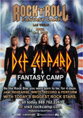 Music Memorabilia:Autographs and Signed Items, Def Leppard Signed Rock 'n' Roll Fantasy Camp Poster (2014)....