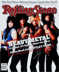 Music Memorabilia:Posters, Motley Crue - Vince Neil Signed Rolling Stone MagazinePoster (Rolling Stone, 1987)....