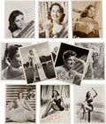 Movie/TV Memorabilia:Autographs and Signed Items, An Actress Group of Signed Black and White Photographs, Circa1950s.... (Total: 11 Items)