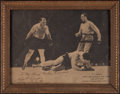 Boxing Collectibles:Autographs, 1939 Tony Galento Signed Vintage Photograph....