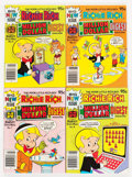 Bronze Age (1970-1979):Cartoon Character, Richie Rich Digest Winners/Richie Rich Digest Millions File CopiesBox Lot (Harvey, 1970s-'80s) Condition: NM-....