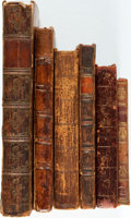 Books:Furniture & Accessories, [Leatherbound Books]. Group of Six Leatherbound Books. Various publishers and dates. Most with spines and extremities rubbed... (Total: 6 Items)