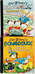 Books:Children's Books, Walt Disney. Two Donald Duck Books. Whitman: Racine, 1948. Originalcloth-backed pictorial bindings, with some rubbing to bo... (Total:2 Items)