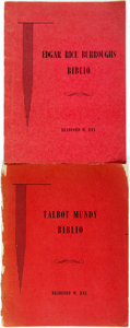 Books:Biography & Memoir, [Bibliography] [Edgar Rice Burroughs] [Talbot Mundy]. Bradford M. Day. Two Bibliographies of Edgar Rice Burroughs and Talbot M... (Total: 2 Items)