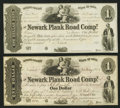 Obsoletes By State:Ohio, Newark, OH- The Newark Plank Road Company $1 (2) May 20, 1845,Remainder Wolka 1935-01; -02. ... (Total: 2 notes)
