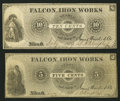 Obsoletes By State:Ohio, Niles, OH- The Falcon Iron Works Store - James Ward & Co. 5¢;10¢ 1869 Wolka 1990-01; -03. ...