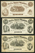 Obsoletes By State:Ohio, (Not Shown), OH- The Etna Iron Works 50¢ (2); $2 Dec. 1, 1873Remainders Wolka 2028-04 (2); -06. ... (Total: 3 notes)