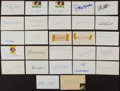 Autographs:Index Cards, Baseball Greats Signed Index Cards Lot Of 25+...