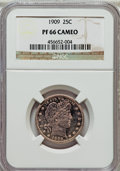 Proof Barber Quarters: , 1909 25C PR66 Cameo NGC. NGC Census: (9/11). PCGS Population (12/4). ...