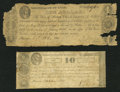 Obsoletes By State:Ohio, Marietta, OH- The Town of Marietta 10¢; $1 Oct. 1837 Wolka 1565-02;-05. ... (Total: 2 notes)