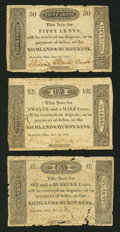 Obsoletes By State:Ohio, Mansfield, OH- The Richland & Huron Bank 6-1/4¢; 12-1/2¢; 50¢Dec. 2, 1816 G2; G4; G8 Wolka 1541-01; -02; -04. ... (Total: 3notes)