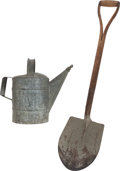 "Movie/TV Memorabilia:Props, A Judy Garland Watering Can and Shovel from ""Summer Stock.""...(Total: 2 Items)"
