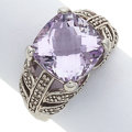 Estate Jewelry:Rings, Amethyst, White Gold Ring. ...