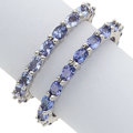 Estate Jewelry:Rings, Tanzanite, White Gold Eternity Bands. ... (Total: 2 Items)