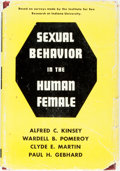 Books:Science & Technology, [Alfred C. Kinsey]. Sexual Behavior in the Human Female.W.B. Saunders, 1953. First edition. Publisher's cloth and o...