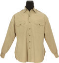 "Movie/TV Memorabilia:Costumes, A Gregory Peck Military Shirt from ""Captain Newman, M.D.""..."