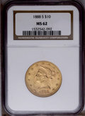 Liberty Eagles: , 1888-S $10 MS62 NGC. NGC Census: (356/46). PCGS Population (364/75). Mintage: 648,700. Numismedia Wsl. Price: $500. (#8714)...